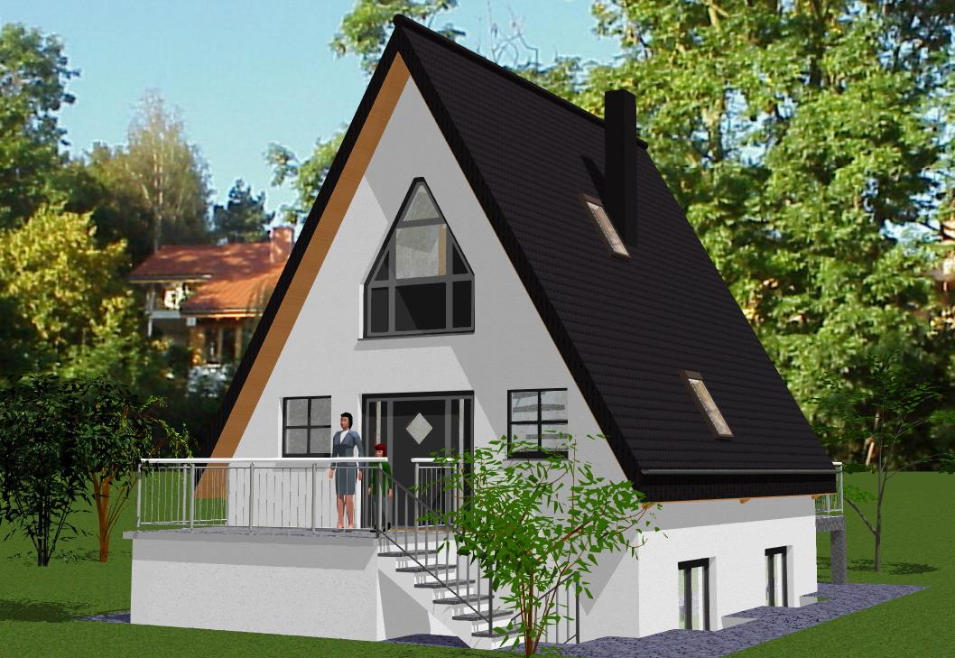 Finnhütte Rohbausatz, Solardachhaus, Nurdachhaus - \